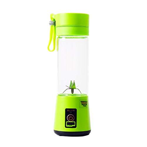 CNmuca Tamanho portátil USB espremedor de frutas elétrico portátil fabricante de batidos liquidificador recarregável Mini copo de suco portátil verde água