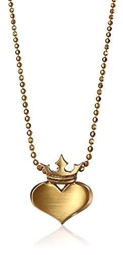 """Alex Woo""""Little Rock Star"""" corazón con colgante de corona collar"""