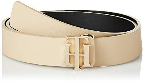 Tommy Hilfiger Damen Th Reversible 3.0 Gürtel, Mehrfarbig (Khaki/Black Rbl), Small (Herstellergröße: 85)