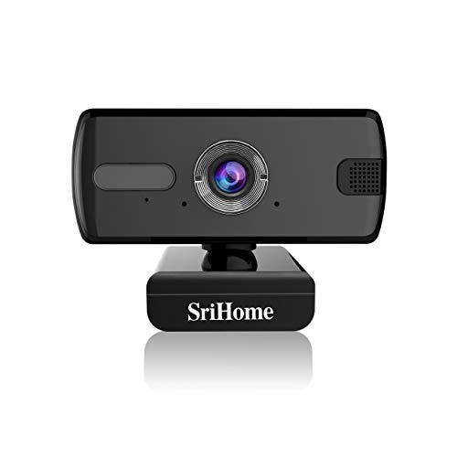 Srihome SH004 3MP 1536P Webcam for PC Laptop Desktop, USB Webcam with Microphone for Video Conferencing Video Calls, USB Full HD Webcam Compatible with Skype, FaceTime, Hangouts, Plug and Play