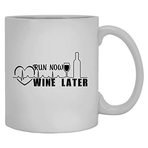 N\A Tazas de cerámica de Vino - Taza de café Blanca con Latido del corazón del Vino