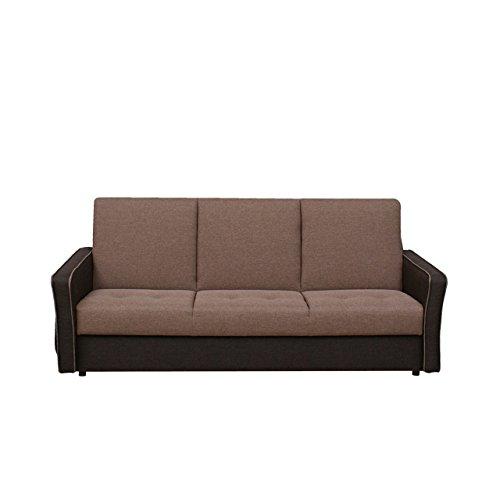 Mirjan24 Vintage Schlafsofa Laguna, Couch mit Bettkasten und Schlaffunktion, Design Schlafcouch, feiner Webstoff, Sofa, Bettsofa, Wohnlandschaft (Sawana 26 + Sawana 25)