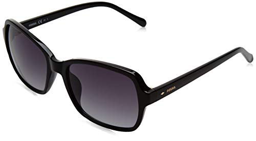 Fossil Women's FOS 3095/S Oval Sunglasses, Black, 54mm, 18mm