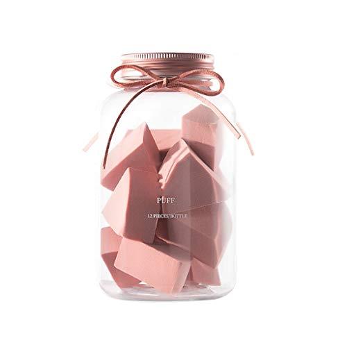 LEZDPP Mini Maquillage éponge Set Fan Shape cosmétiques Puff Grandir dans l'eau Lisse Fondation houppette