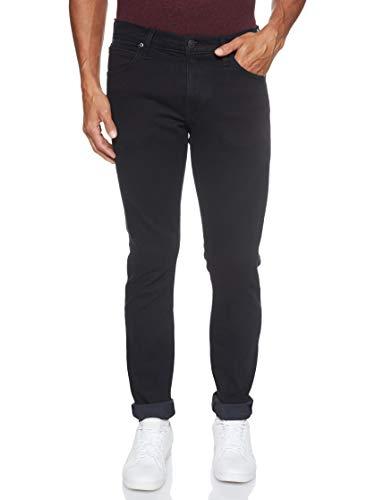Lee Herren Tapered' Tapered Fit Jeans Luke', Schwarz (Blue Black Wood Gq), 38W / 34L (Herstellergröße: 38W / 34L)