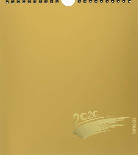 Foto-Malen-Basteln Bastelkalender gold 2020: Fotokalender zum Selbstgestalten. Do-it-yourself Kalender mit festem Fotokarton. Edle Folienprägung. Format: 21,5 x 24 cm