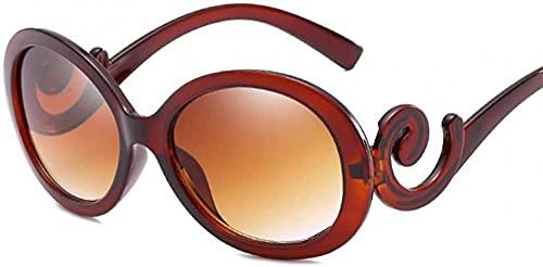 Vintage Oval Gafas De Sol Mujeres Gafas De Sol Sombras Femeninas Pequeño Negro Lente Gafas Uv400 Gafas, Brown,