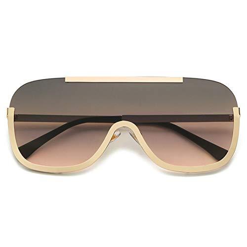 Gafas de Sol Sunglasses Gafas De Sol Futuristas Sin Montura Gradiente De Moda Hombres Mujeres Lujo Vintage Metal Espejo Gafas De Sol Clásicas C3