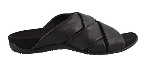 Vionic Women's Rest Juno Slide Sandal - Walking Sandals with Concealed Orthotic Arch Support Black 8 W US