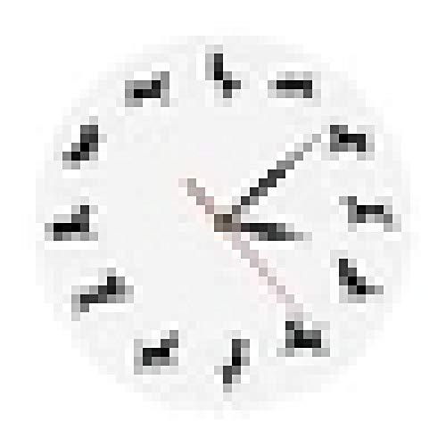hufeng Reloj de Pared Números de Espejo Grande Reloj de Pared Grande DIY Moderno Sin Marco Barrido silencioso Sin tictac Reloj de Pared Decorativo Moderno para Sala de Estar