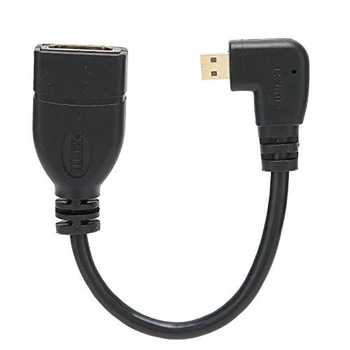 Sdfafrreg Cable Convertidor De ángulo Izquierdo, Cable Adaptador De Alta Definición Portátil para Proyector para Computadora para Auriculares
