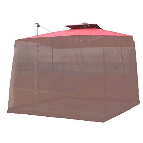 Sombrilla para Patio Mosquiteras Al aire libre Mosquitera Sombrilla for el patio Mosquitero de pantalla UV Resistente Estilo Gazebo Mosquitero for acampar al aire libre de la yarda ( Color : Brown )