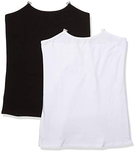 Black and White Nursing Tank Set for Breastfeeding, M