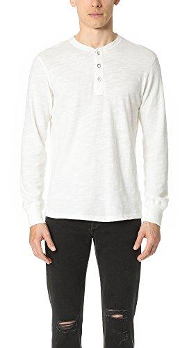Rag & Bone Standard Issue Men's Basic Henley, White, XX-Large