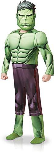 Rubies 640839L Marvel Vengadores Hulk Deluxe disfraz para niños de 7 a 8 años