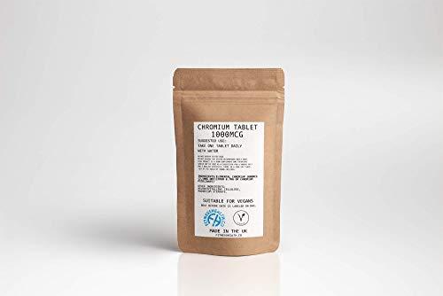 Chromium Picolinate 1000mcg 60 Tabletten Veganistische Vriendschappelijke Insuline Ondersteuning