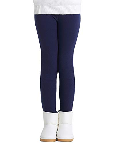 Adorel Legging Polaire Chaud Hiver Uni Coton Fille Bleu Marine 9-10 Ans (Taille Fabricant: 150)