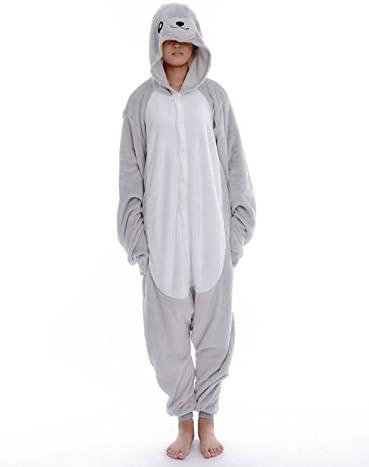 DAYAN Pijama de cuerpo entero, diseño de foca, talla L ...