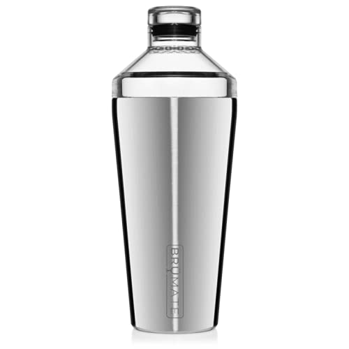 BrüMate Shaker, 20oz Triple-Insulated Stainless Steel Cocktail Shaker and Tumbler With Clear, Shatter-Proof Top and Lid (Stainless Steel)