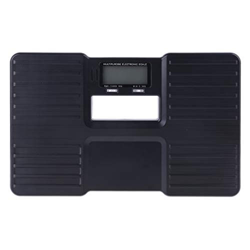 Meipai Elektronische Waage, 150 kg, für die menschliche Gesundheit, aus Kunststoff, gegen Stöße, Schwarz