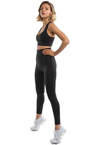 Mallas Leggins Deportivo-Yoga Conjunto de Mujer Conjuntos para Fitness Running Crop Top and Leggings, Conjunto Ropa Deportiva para Mujer