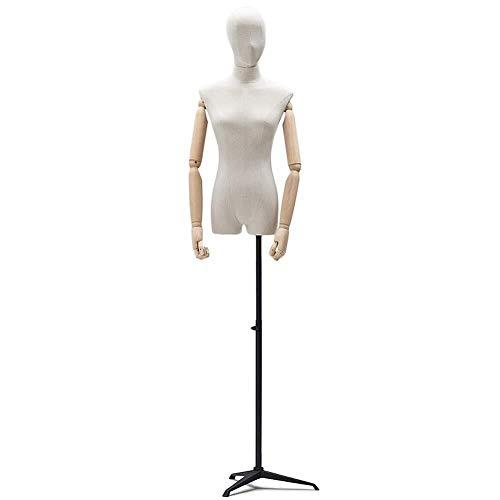 JYHW Mujer Visualización del maniquí del Busto Modistas Moda Ropa de diseño Estante de exhibición de Metal Base de trípode