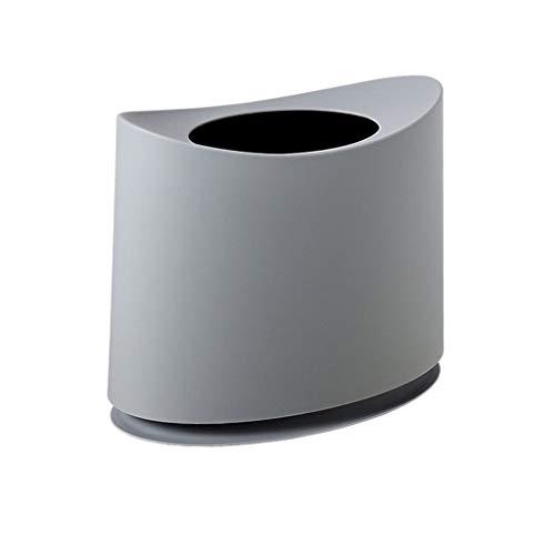 zunruishop Cubos de Basura Papelera Creativa Hogar Cocina Sala de Estar Baño Oficina Bote de Basura Diseño de Doble Barril Bote de Basura (Color : Gray)