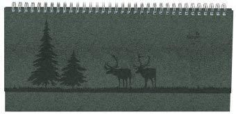 Nature Line Tisch-Querkalender Pine - Kalender 2021 - Alpha Edition-Verlag - Tischkalender mit Platz zum Eintragen - Format 30 cm x 13,5 cm
