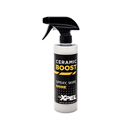 XPEL - R1390 Ceramic Boost 16 oz -Si02 Silica Based Spray That Creates a Super Slick Finish Beads and Repels Water