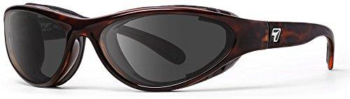 7eye by Panoptx Viento - Gafas de sol con bloqueo de viento, lentes grises + motocicleta equitación, ciclismo, ojos secos, deportes al aire libre