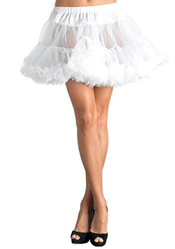 Leg Avenue Women's Layered Tulle Petticoat, White, O/S