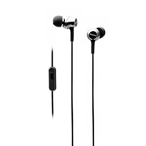 Sony MDR-EX255AP in-Ear Headphones with Mic (Black)