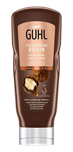 Guhl Fascinerend Bruin Colorshine-Conditioner - met Kuikui-noot olie - voor natuurlijk of gekleurd bruin haar - 200 ml