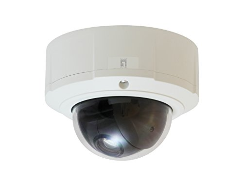 LevelOne 57104207 PTZ Dome Network Camera, 3-Megapixel, Outdoor, PoE 802.3af, Day & Night, 10x, WDR IPCam, 10.36 W, Zwart, Wit