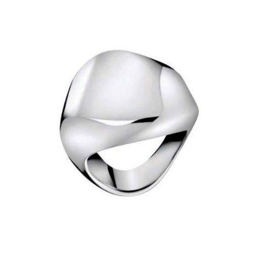 Calvin Klein - Anillo de Acero Inoxidable con ónice, Talla 12 (16,56 mm)