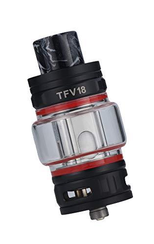 Smok TFV18 Tank Clearomizer, 7,5ml, Top-Filling, Subohm-fähig, Smok Verdampfer für E Zigarette - Farbe: matt-schwarz