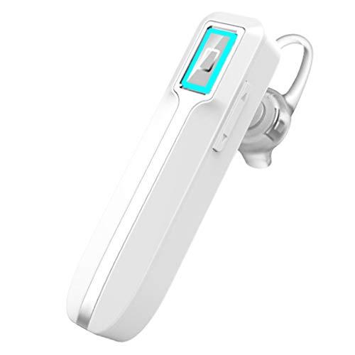 Ear CancellingV4.1 Bluetooth-hoofdtelefoon, waterdicht, geluidsarm, draadloos, Bluetooth oordopjes, 30 uur, met lange levensduur, stand-by accu, voor business, kantoor, auto en sport, Wit.