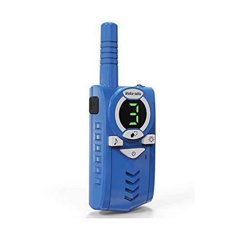 LLDKA 2 Piezas radios niños walkie Talkie Recargables para niños 5km Canales de Gama con los niños Juguetes Linterna Walky Talky,Azul