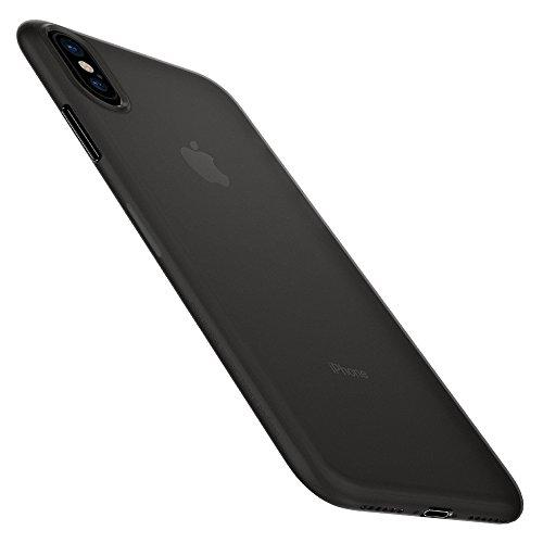 Spigen Air Skin Cover iPhone XS, 5.8 inch Cover iPhone X con Materiale Leggero Semi Trasparente per Apple iPhone XS (2018) / iPhone X (2017) - Black