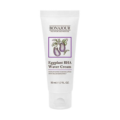 [BONAJOUR] Eggplant Daily BHA Moisturising Cream - Salicylic Acid Gentle Exfoliating Anti-Acne treatment Natural Moisturizer 1.7 fl. oz