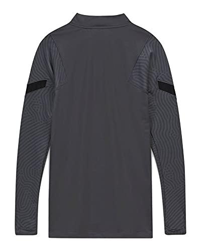 Nike INTER MNK DRY STRK DRIL TOP CL, T-shirt A Manica Lunga Uomo, dark grey/Black/(tour yellow) (no sponsor-3rd), M