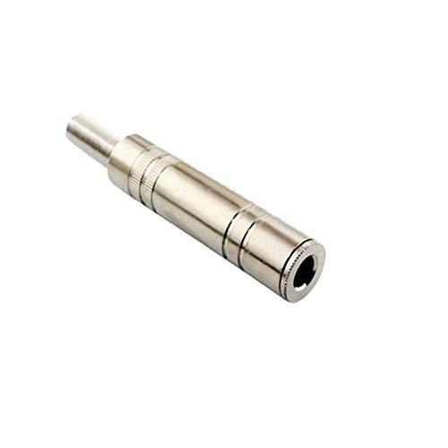 Leloo Lcuihong-Interfaces de Audio Conector de Conector de Audio Conector de Audio 6PCS 6.5 Amplificador Micrófono Tapones, 6.35mm Mono/Socket Stereo Socket, Durabilidad