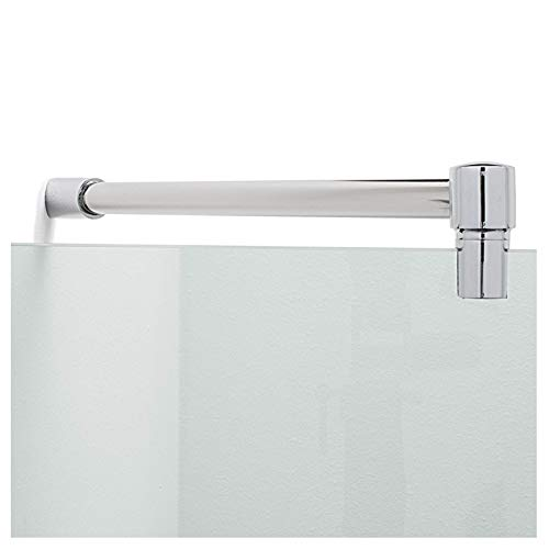 Stabilisationsstange für Dusche 45°, Stabilisator Duschwand diagonal, Stabilisierungsstange Glas-Wand (300mm, Chrom)