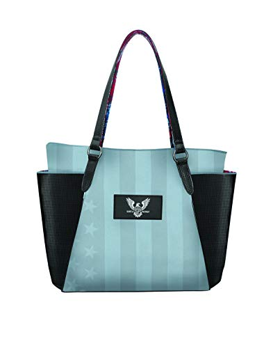 Subtle Patriot Carryall Tote Bag für Damen - Militär inspirierte Tragetasche / Laptopfach und extra Stauraum (Lady Liberty)