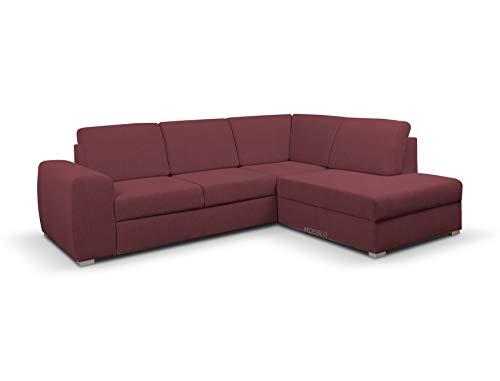 MOEBLO Ecksofa mit Schlaffunktion mit Bettkasten Sofa Couch L-Form Polstergarnitur Wohnlandschaft Polstersofa mit Ottomane Couchgranitur mit Bettfunktion -...