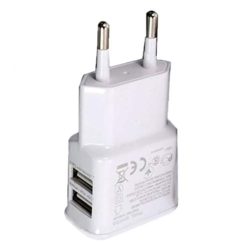 JIE Adaptador de Corriente USB Dual portátil Cargador de teléfono móvil Enchufe...