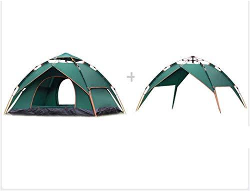 Tiendas de campaña para acampar Pop-up al aire libre UV Playa Carpa Cómica Automática Tienda Tienda Familia Sun Shade Tienda Camping Acampar al aire libre Pesca Picnic para Pesca de mochila (Color: Az