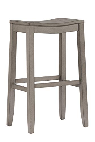 Hillsdale Furniture Fiddler Saddle Backless Counter Height Stool Aged Gray