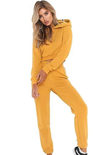 Aibayleef Set 2 Piezas Conjunto de Chándal de Mujer Suéter Sudaderas Tops + Pantalones Deportivos Fitness Manga Larga Ropa Deportiva para Jogging Running Gimnasio Atletismo Chándal