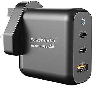 WiWU Power Turbo Wall Charger Dual PD + QC 3.O, 65W Smart - Black